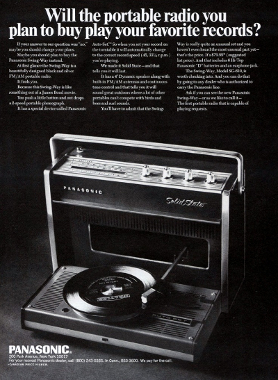 Portable Radio Turntable
