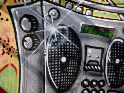 Ghetto Blaster Boombox Graffiti