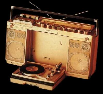 Boombox With Turntable
