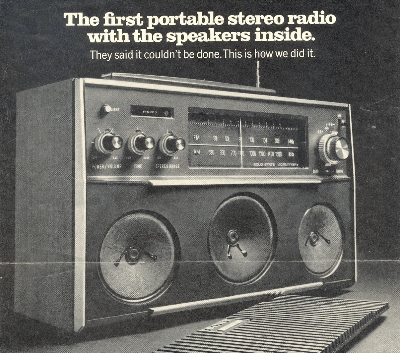 First Portable Stereo Radio