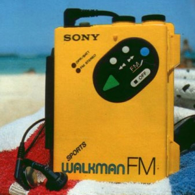 Sony Yellow Sports Walkman